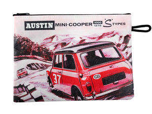 Monte Carlo Rally Mini-Cooper S Large Zip Pouch