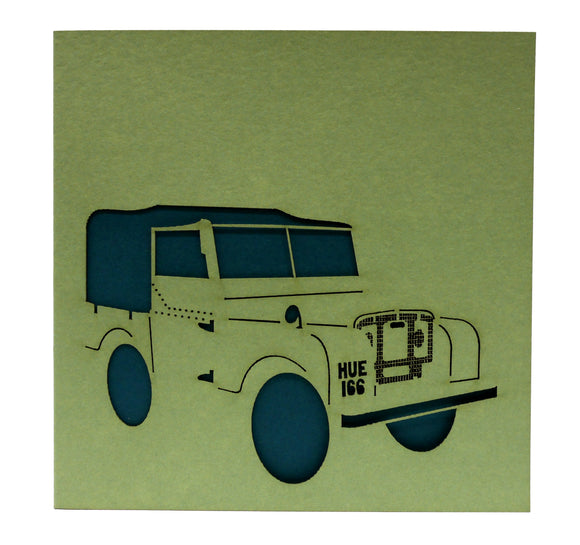 Land Rover 'HUEY' Greetings Card
