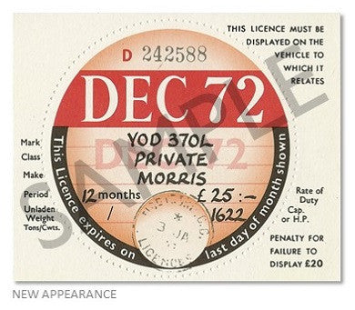 Replica Tax Disc