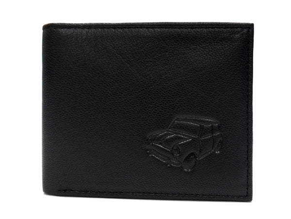 Embossed Leather Mini Wallet