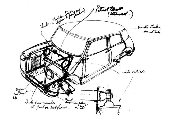 Mini Sketch by Issigonis 1963-1964