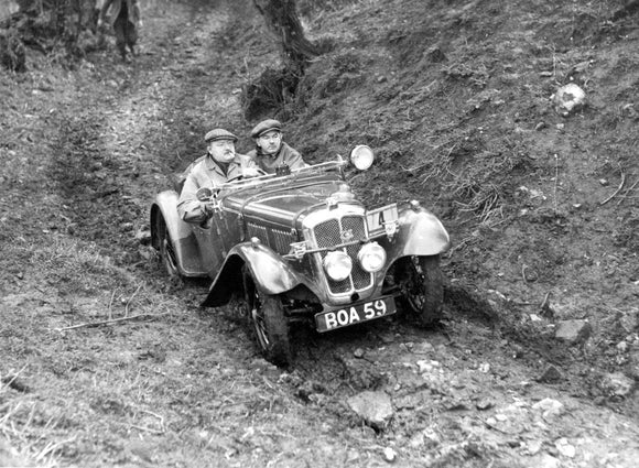 Austin Seven Tourer in the Colmore Cup Trial 1937