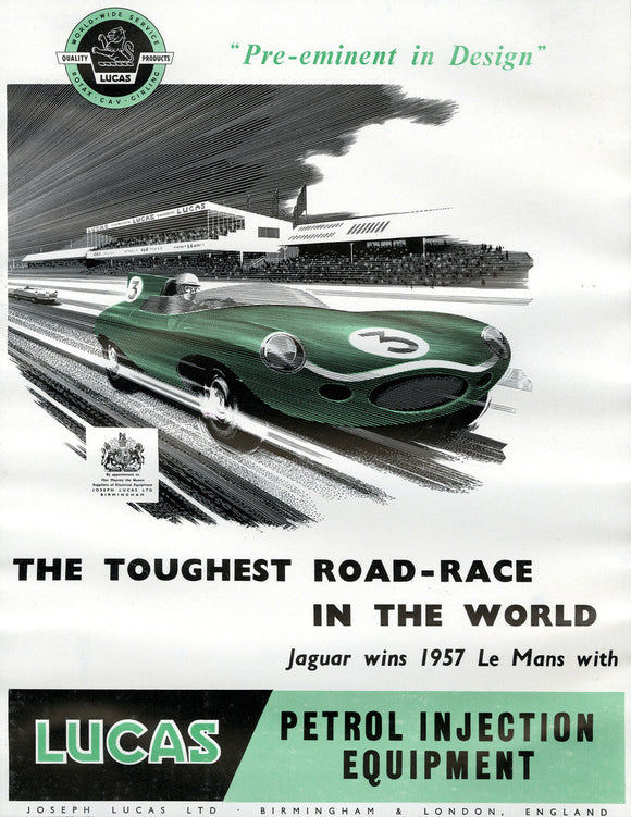 Lucas Toughest Road Race Poster 1958