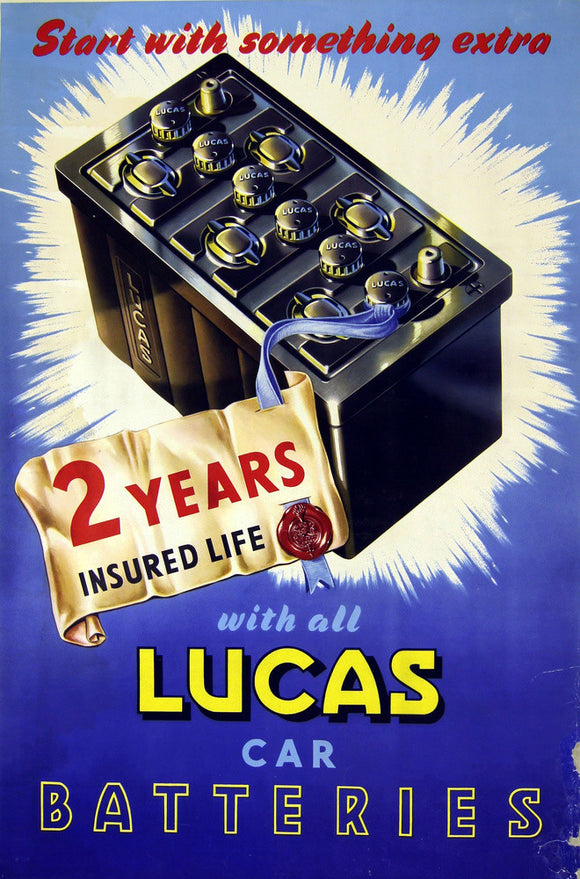 Lucas Poster Product Batteries