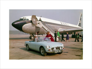 MGB Roadster Mk1 with Plane 1962