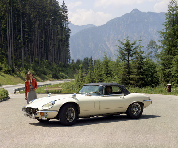 Jaguar E-Type V12 in Austria 1972