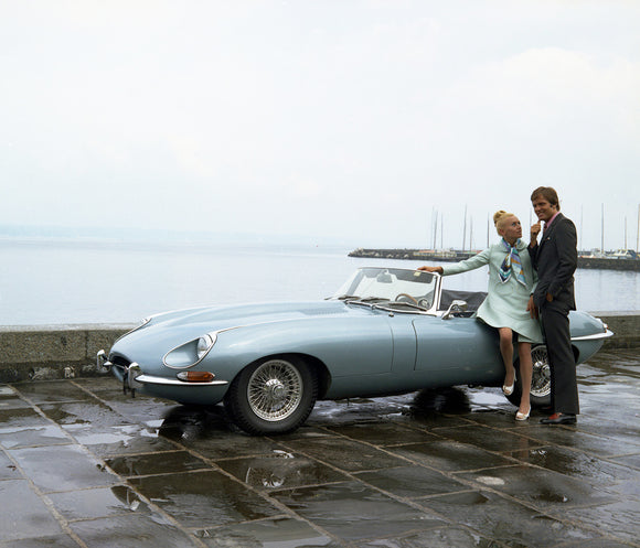 Jaguar E-Type at the Harbour 1960s