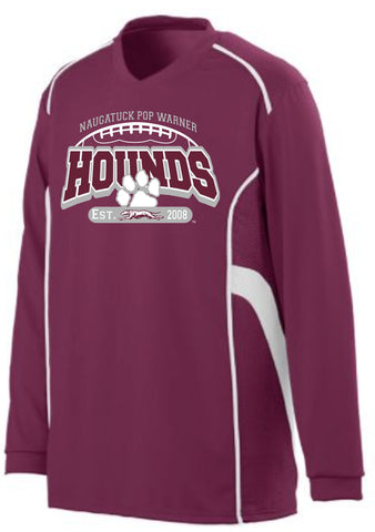 Naugatuck Hounds Football Performance Longsleeve