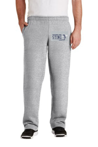 Shoreline Sting Adult Open Bottom Sweatpants with Embroidered logo