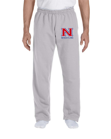 Nonnewaug Wrestling Embroidered Open Bottom Sweatpants