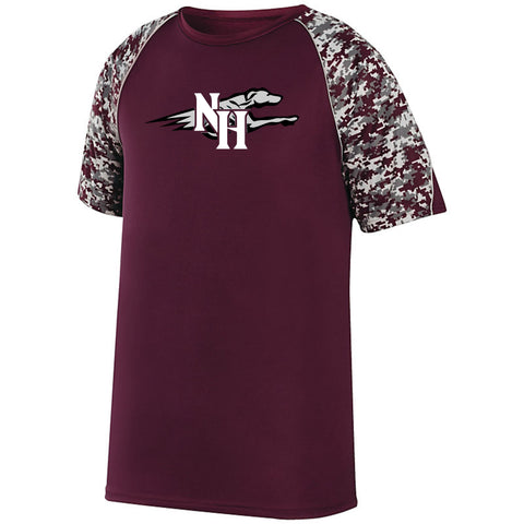 Naugy Hounds Baseball  Digi Camo Wicking T-shirt