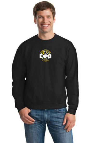 Emmett O'Brien Cotton Blend Crewneck Embroidered Sweatshirt