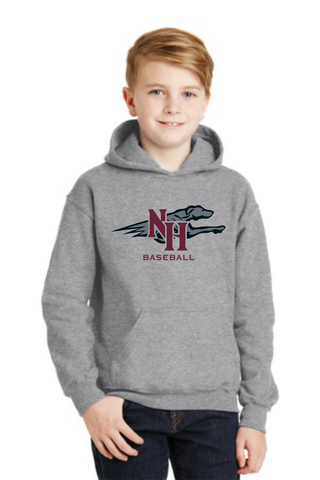 Naugy Hounds Baseball Cotton Blend Hoodie