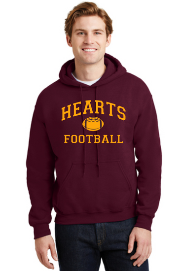Hearts Football Cotton Blended Sweatshirt Logo 2