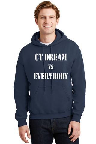 CT DREAM HOODED UNISEX COTTON BLEND SWEATSHIRT EVERYBODY LOGO