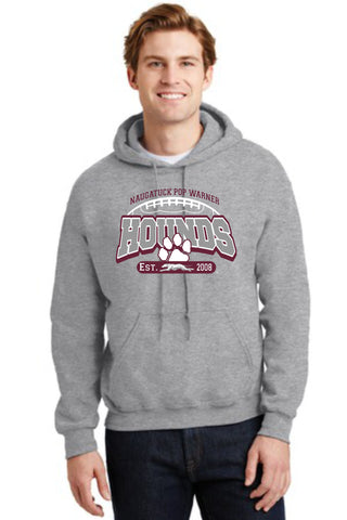 Naugatuck Hounds Football Sport Grey Cotton Blended Sweatshirt