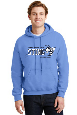 Shoreline Sting Cotton Blend Screenprinted Hoodie