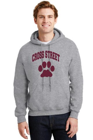 Cross Street Adult and Youth Hooded Sweatshirt