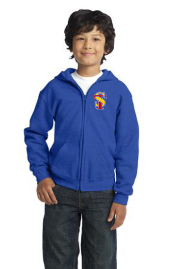 Seymour Tradition Royal Youth Full Zip Hooded Sweatshirt