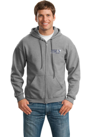 Shoreline Sting Adult Unisex Full Zip Hooded Sweatshirt