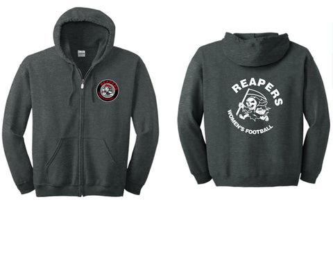 REAPERS FOOTBALL Unisex Full Zip Hooded Sweatshirt