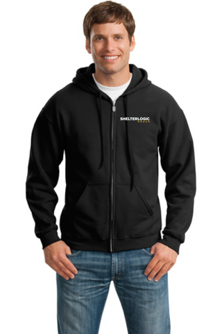 Shelterlogic Group 50/50 Unisex Full Zip Hooded Sweatshirt