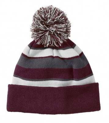 Naugatuck Travel Baseball Comeback Sport Beanie with Pom
