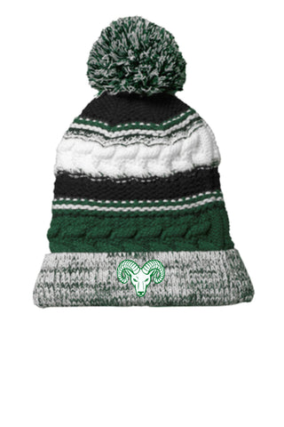 RAMS Pom Pom Winter Cap