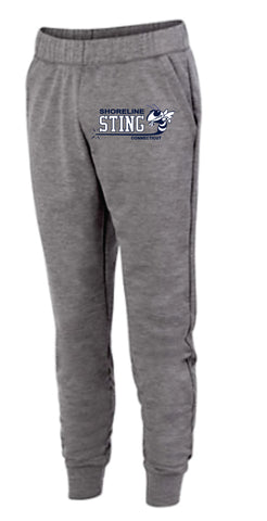 Shoreline Sting Ladies Tonal Heather Fleece Jogger