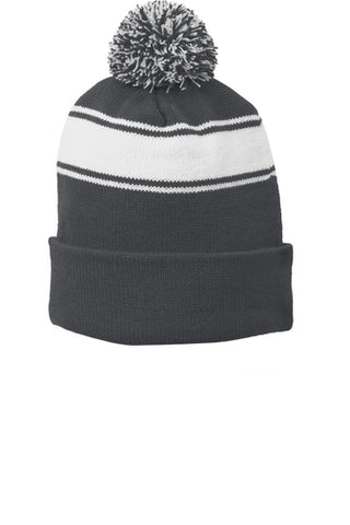 Kinetic Kids Stripe Pom Beanie