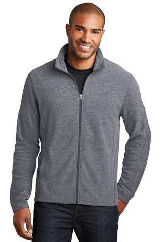 Jettie S. Tisdale Men's Full Zip Heathered Microfleece