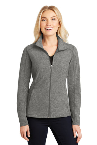 Jettie S. Tisdale Ladies Full Zip Heathered Microfleece
