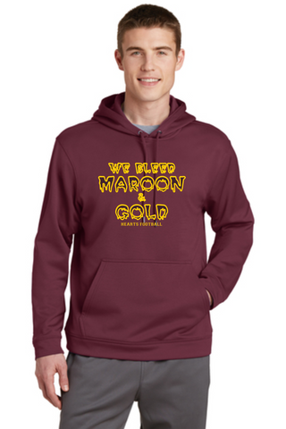 Hearts Football Wicking Unisex Hooded Sweatshirt