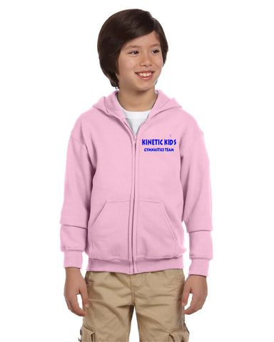 Kinetic Kids Youth and Adult Embroidered Full Zip Hoodie