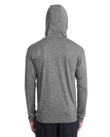 Emmett O'Brien Performance Hooded Sweatshirt Screenprinted with logo center front