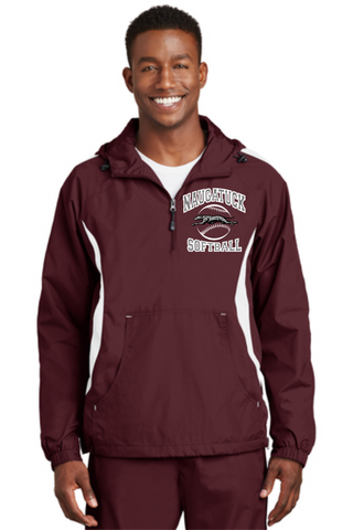Naugatuck Softball Unisex 1/2 Zip Embroidered Colorblock Jacket