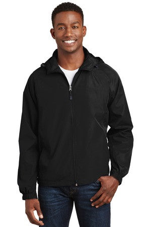 Nutmeg Miata Full Zip Hooded Windbreaker Jacket