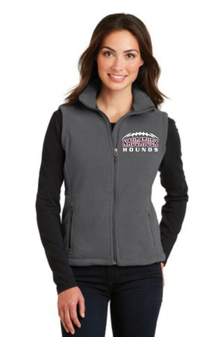 Naugatuck Hounds Ladies Fleece Vest
