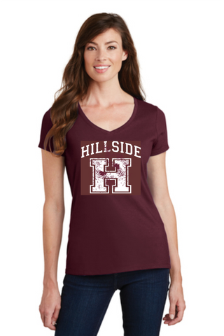 Hillside Ladies V-Neck T-shirt
