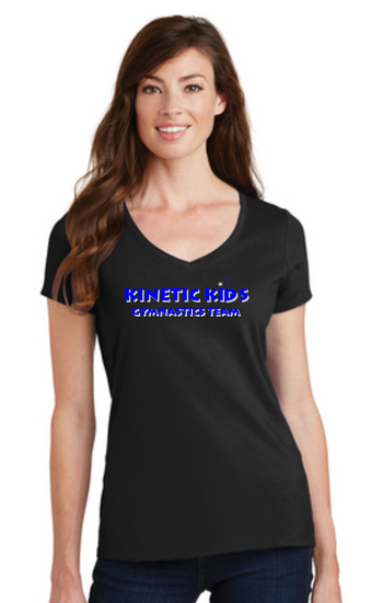 Kinetic Kids Ladies Cotton Blend V-neck t-shirt
