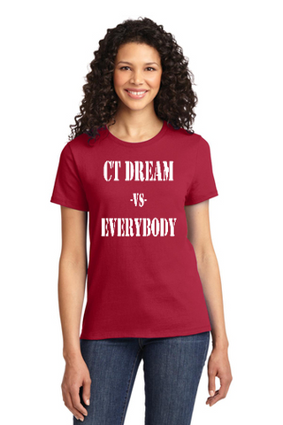 CT DREAM LADIES COTTON T-SHIRT EVERYBODY LOGO