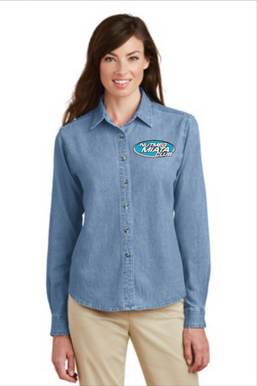 Nutmeg Miata Ladies Denim Longsleeve Shirt