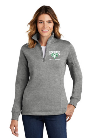 RAMS Ladies 1/4 Zip Cotton blended Pullover