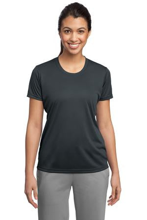 Naugatuck Thunderfish Grey Ladies wicking t-shirt with side print