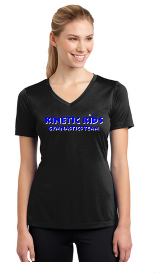 Kinetic Kids Ladies wicking V-neck shirt