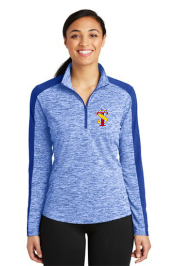 Seymour Tradition Ladies Electric Heather 1/4 Zip Pullover