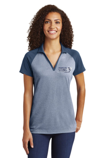 Shoreline Sting Sport-Tek® PosiCharge® RacerMesh® Raglan Heather Block Polo