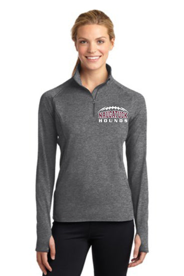 Naugatuck Hounds 1/2 Zip Ladies Performance Longsleeve Shirt