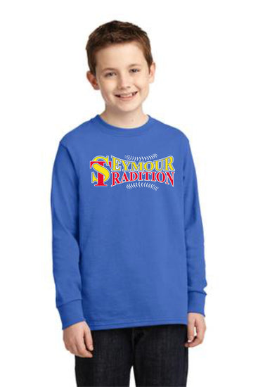 Seymour Tradition Royal Longsleeve Cotton Youth T-shirt