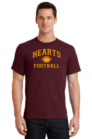 Hearts Football Cotton Unisex T-shirt Football Logo 2